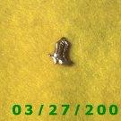 Brass Cowboy Boots Charm  (037)