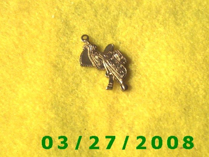 Brass Cowboy Saddle Charm  (036)