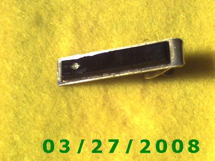 Gold Tie Clasp w/Stone  (020)