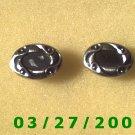 Silver n Black Cuff Links   (023)