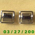 """Silver Cuff Links """"Swank""""    (024)"""