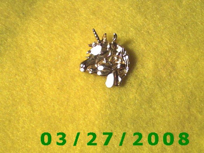 Gold Unicorn Pendant or Charm   (039)