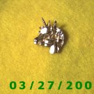 Gold Unicorn Pendant or Charm   (039)