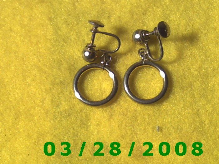 Silver Earrings w/Screw Back (004)