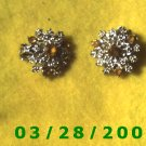 Silver Earrings Clip On w/Stone  (009)