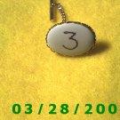 White n Gold Lapel Pin  (005)