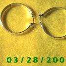 """Silver Hoop Earrings 1 1/4"""" (016)"""