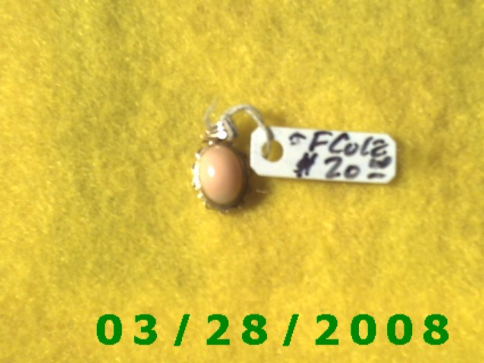 14K Gold Charm w/stone   (021)