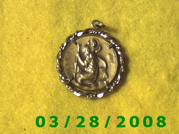 "St. Christopher ""Protect Us"" Medallion  (024)"