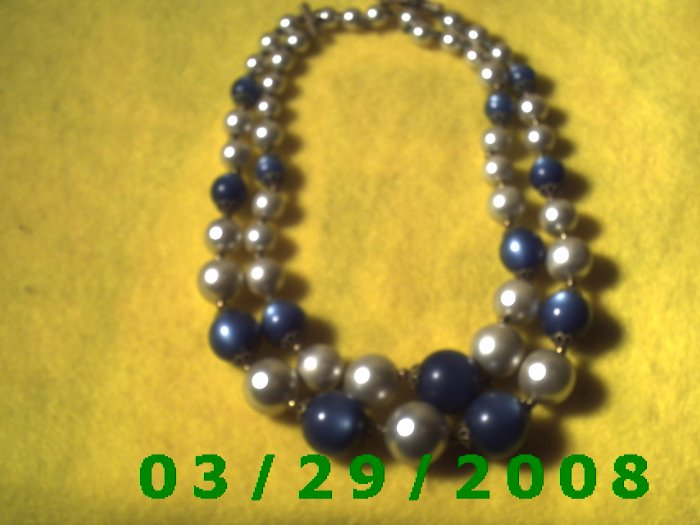 "18"" Double Strand Pearl Necklace (003)"
