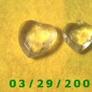2ea Crystal Heart Charms  (003)