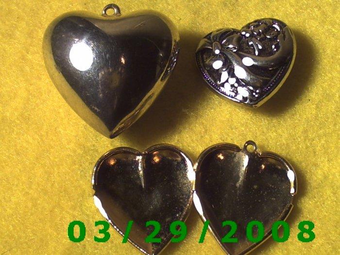 3ea Heart Charms  (006)