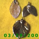 3ea Gold Leaf Charms   (012)
