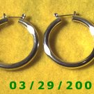 "1 1/2"" Silver Hoop Pierced Earrings (026)"