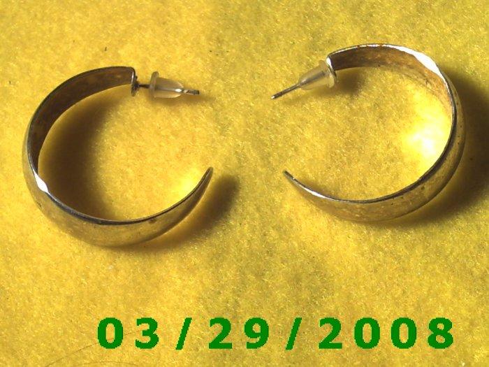 """1 3/16"""" Silver Hoop Pierced Earrings (027)"""