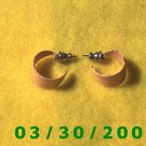Orange Hoop Pierced Earrings (003)