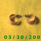 Orange Hoop Pierced Earrings (003)