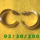 Gold Hoop Pierced Earrings  (022)