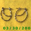 Silver Pierced Earrings  (026)
