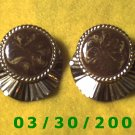 Silver n Brown Pierced Earrings  (036)