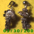 Gold Clip On Earrings w/tassle  (020)