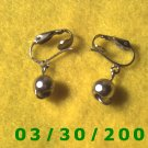 Silver w/silver bead Clip On Earrings  (043)