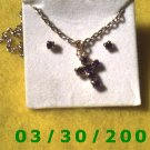 October Birthstone Necklace and Earrings Set Tourmaline(008)