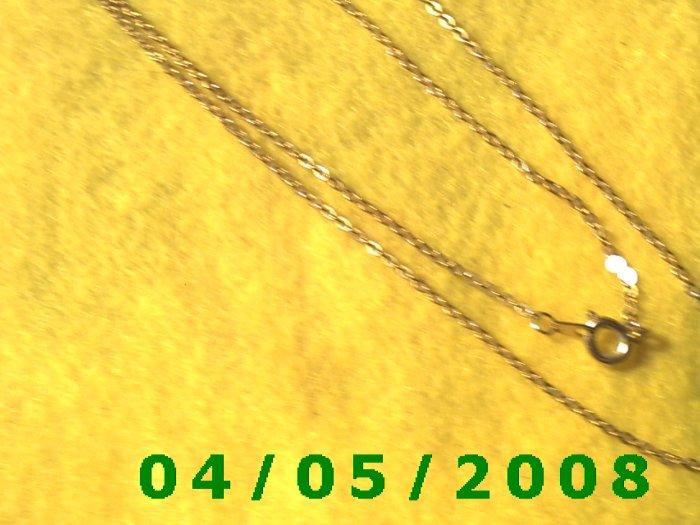 Gold Necklace    E5007