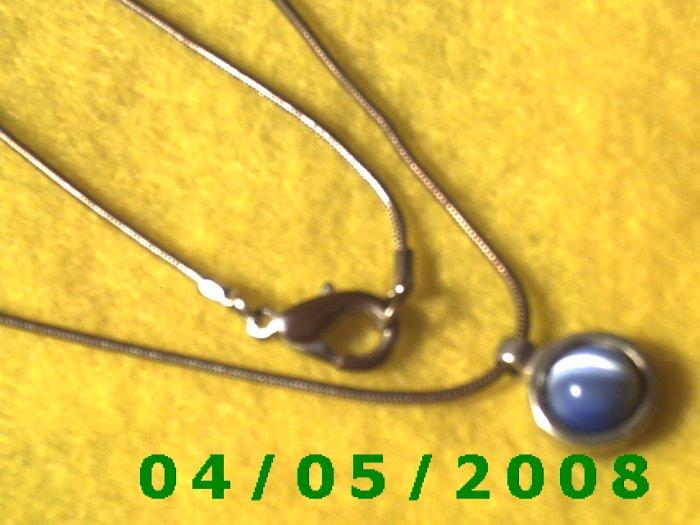 Silver Necklace w/Charm    E5028