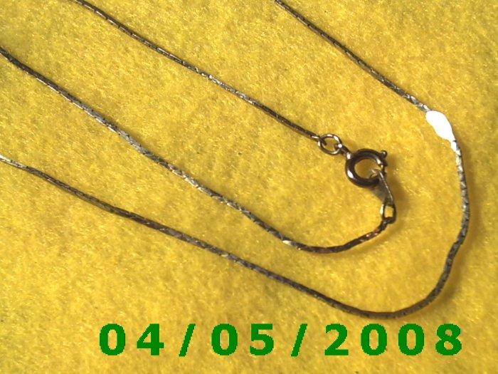 Silver Necklace    E5030