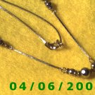Silver Necklace w/Beads     E5039