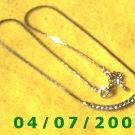Silver Necklace w/Cz's    E5041