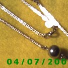 Gold Necklace w/Beads      E5050