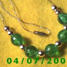 Gold Necklace w/Beads     E6003