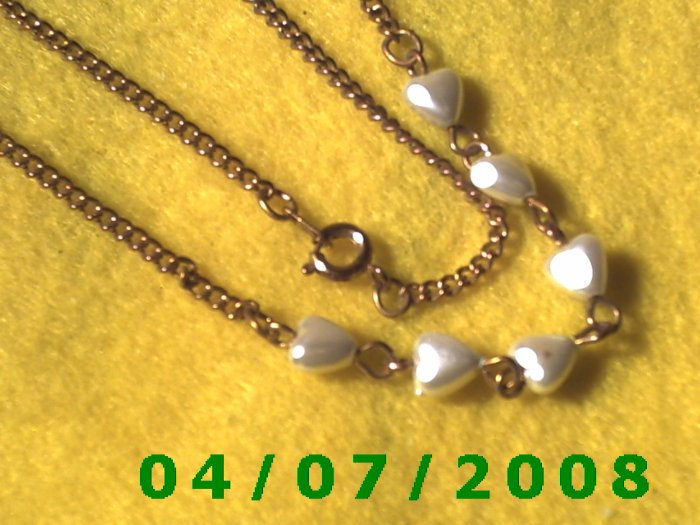 Copper Necklace w/Hearts    E6007