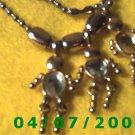 Silver Necklace w/Charms    E6009