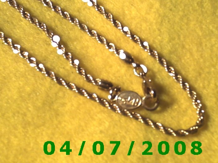 Gold Necklace (Napier)      E6012