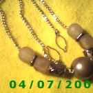 Silver Necklace w/Beads     E6013