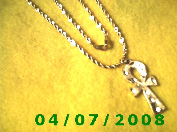 Gold Necklace w/Cross     E6014