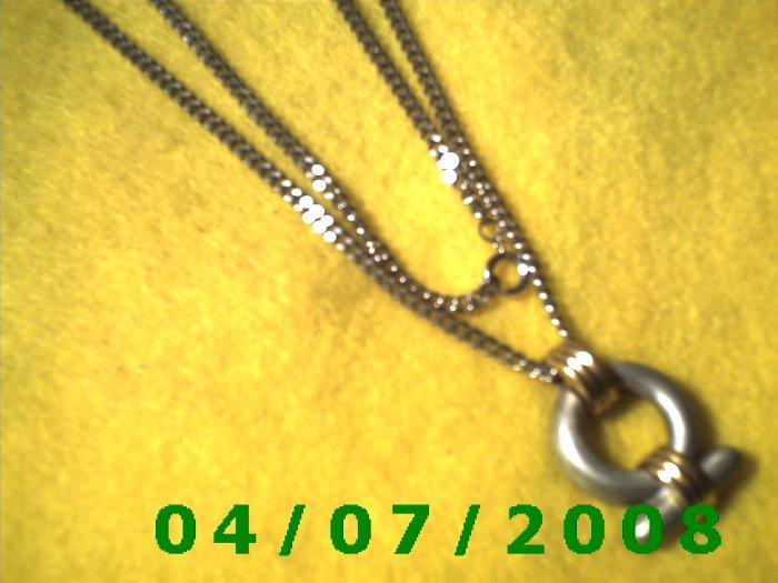 Silver Necklace w/Pendulum     E6016