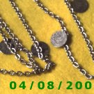 Silver Necklace w/Charms      E6021