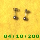 Silver Pierced Earrings     Q002