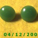 Green Pierced Earrings      Q1004