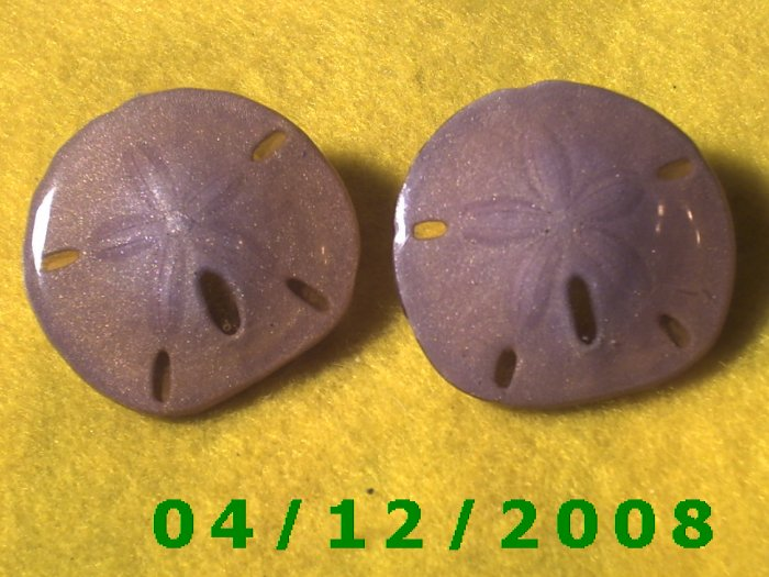 Sand Dollar Pierced Earrings     Q1016