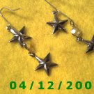 Silver Stars Pierced Earrings     Q1019