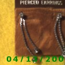 Rhinestone Silver Earrings          Q2005