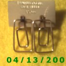 Rectangle Gold Filled Pierced Earrings           Q2007