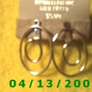 Gold Filled Pierced Earrings      Q2008