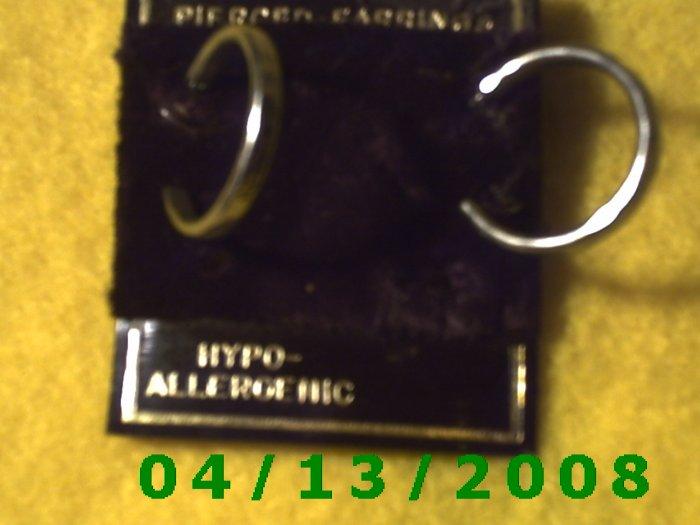 Hoop Silver Pierced Earrings     Q2020
