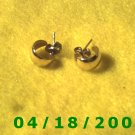 Gold Hoop Pierced Earrings    Q3001